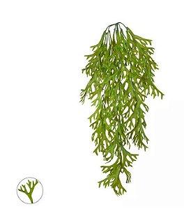 Folhagem Artificial Chifre-de-Veado Pendente Verde 80cm