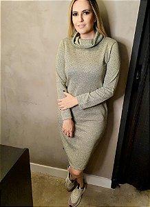 Vestido Alana Lurex  Golden (Dourado)