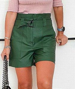 Shorts Ravena Verde (Material Sintético)