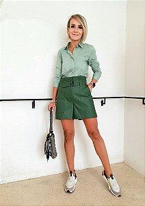 Camisa Tricoline Polly ( Verde Oliva)