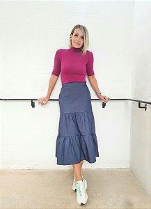 Saia Leticia Azul ( Sarja)