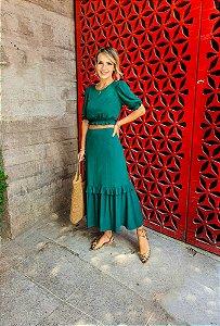Conjunto Gianina Verde Esmeralda