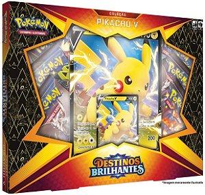 Box Pokémon Destinos Brilhantes Pikachu V