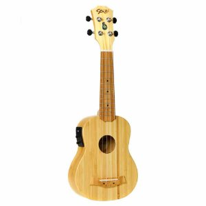 Ukulele Elétrico Seizi Bali Soprano Solid Bamboo com Bag