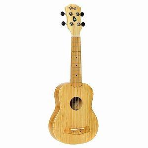 Ukulele Acústico Seizi Bali Soprano Solid Bamboo com Bag