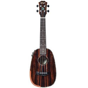 Ukulele Elétrico Seizi Bora-Bora Plus Pineapple Concert Ebony com Bag