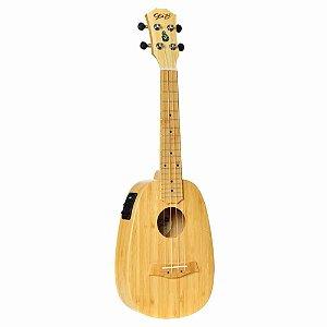 Ukulele Elétrico Seizi Bali Pineapple Concert Solid Bamboo com Bag