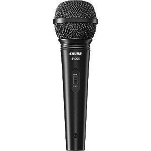 Microfone Dinâmico Shure SV200 Cardioide