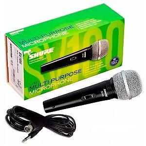 Microfone Dinâmico Shure SV100 Cardioide com Fio