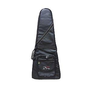 Bag Capa Avs Bic013ex Executive Preto Para Guitarra Flying V