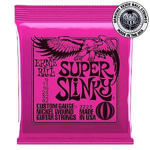 Encordoamento Ernie Ball 2223 Super Slinky 009 para Guitarra
