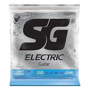 Encordoamento SG Strings .010/.046 Tensão Leve para Guitarra