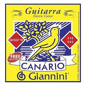 Encordoamento Giannini GESGT .010/.046 Canário para Guitarra