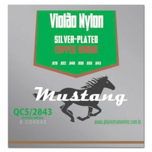 Encordoamento Mustang QC5 Tensão Média para Violão Nylon