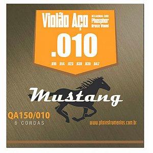 Encordoamento Mustang QA150 .010/.047 para Violão Aço