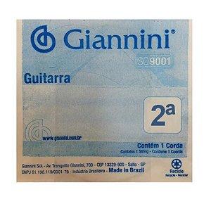 Corda Avulsa Giannini GEEGST10 Segunda Si para Guitarra