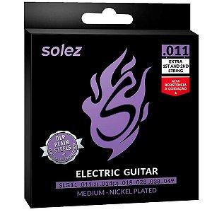 Encordoamento Solez SLG11 011/049 Média para Guitarra