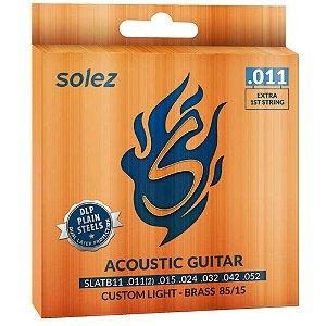 Encordoamento Solez SLATB11 011/052 Bronze para Violão Aço