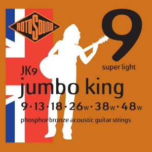 Encordoamento Rotosound JK9 Jumbo King 009/048 para Violão