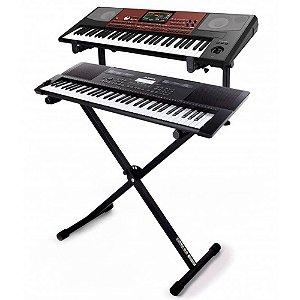 Suporte de Chão Ibox PM2 Simples para 2 Pianos Digitais