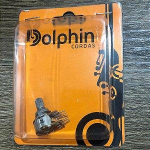 Potenciômetro Duplo Dolphin A500K Center-Click Logarítmico