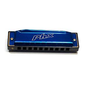 Gaita Harmônica Phx LE-1020C Azul Escuro em Dó (C)