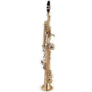 Saxofone Soprano Vogga VSSP701N Laqueado em Bb (Si Bemol)