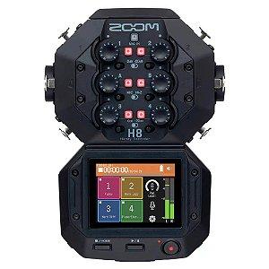 Gravador de Áudio Zoom H8 Handy Recorder Black