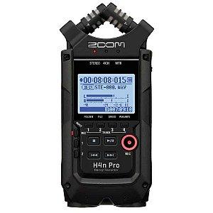 Gravador Digital Portátil Zoom H4n Pro Handy Recorder Black