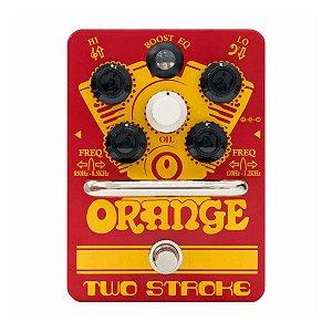 Pedal Orange Two Stroke Boost EQ para Guitarra