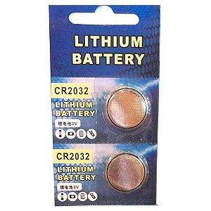 Kit Com 2 Bateria Lithium Cr2032 3v Para Afinador