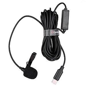 Microfone de Lapela Comica CVM-V01SP UC para Smartphone