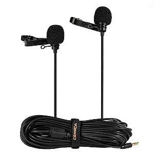 Microfone Duplo de Lapela Comica CVM-D02 para Smartphone