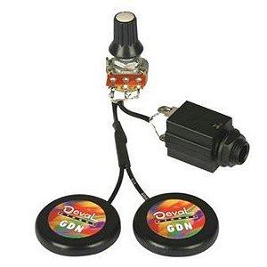 Captador de Contato Duplo Deval GPDA Passivo P/ Cordas Aço