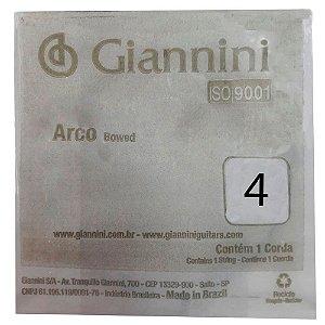 Corda Avulsa Giannini GEAVVA Quarta Sol para Violino