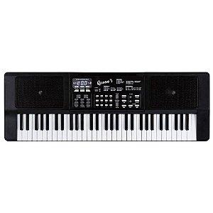 Teclado Musical Queens D184557 61 Teclas com Microfone