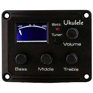 Captador Equalizador Phx EQ-UK para Ukulele com Afinador