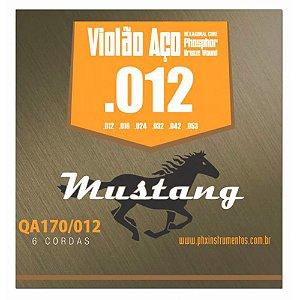Encordoamento Mustang QA170 .012/.053 para Violão Aço