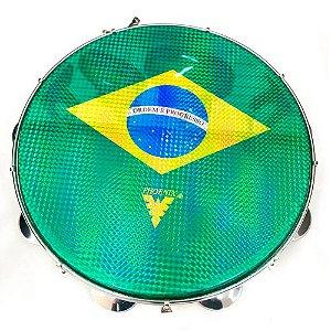 Pandeiro Acrílico Phx 96A YL 10 Pele Brasil Amarelo