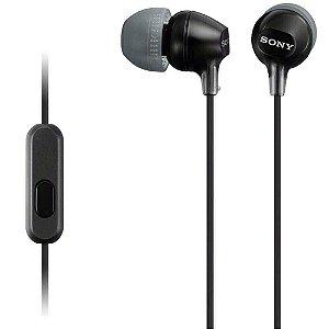 Fone de Ouvido Intra-Auricular com Microfone MDR-EX15AP Preto SONY