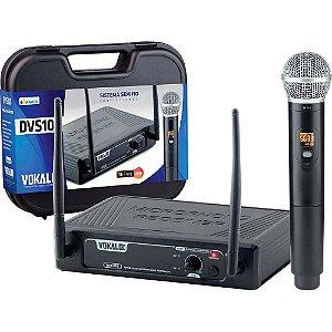 Microfone Vokal Dvs100sm Sem Fio De Mão
