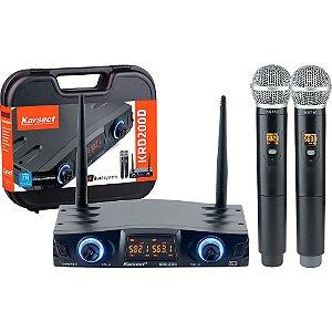 Microfone Duplo Karsect Krd200dm Sem Fio