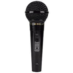Microfone Profissional Leson Sm-58 P4 Preto