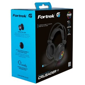 Headset Gamer Fortrek Rgb Crusader Preto