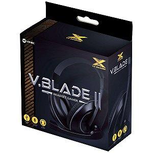 FONE HEADSET GAMER VX GAMING V BLADE II USB COM MICROFONE RETRÁTIL E AJUSTE DE HASTE PRETO COM VERMELHO - GH200
