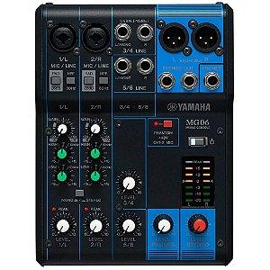 Mesa De Som Yamaha Mg06 Analógica 6 Canais