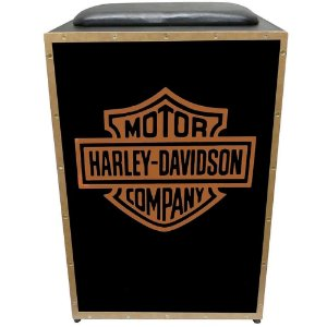 Cajon Eletroacústico Inclinado Profissional K2 COR-007 EQ Harley Davidson JAGUAR