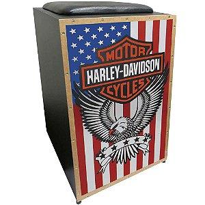 Cajon Acústico Inclinado Profissional K2 COR-005 Harley Davidson JAGUAR