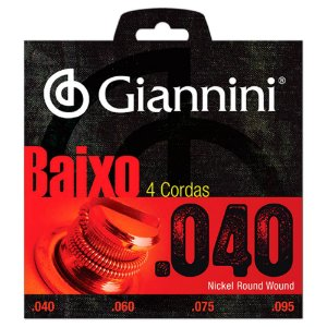 Encordoamento Giannini Geebrl .040 Para Contrabaixo