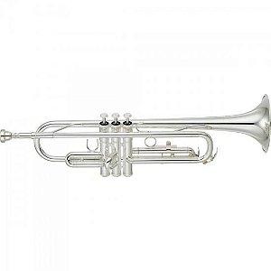 Trompete Yamaha Ytr-2330s Prateado Em Sí Bemol